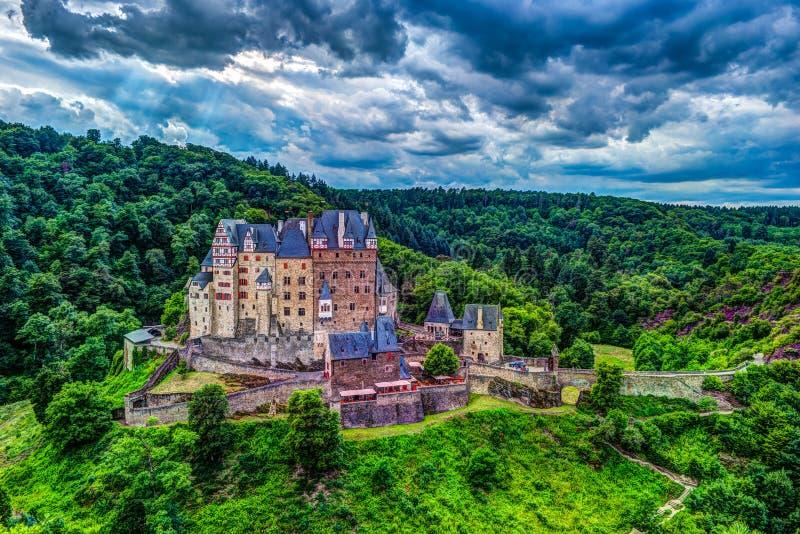 Castello di Eltz in Renania Palatinato, Germania fotografia stock