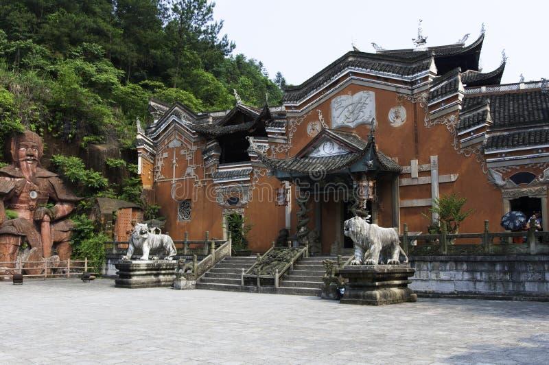 Castello di Enshi Tusi (parte anteriore) fotografie stock libere da diritti