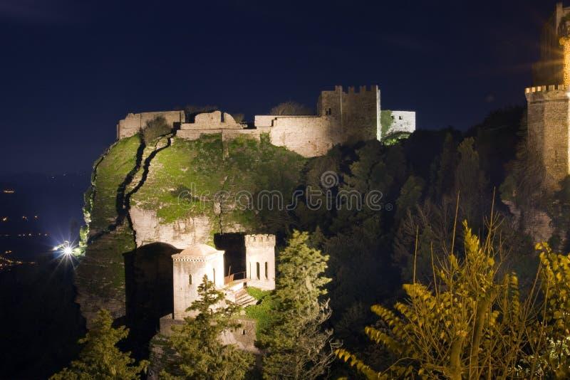 Castello di Erice fotografie stock libere da diritti
