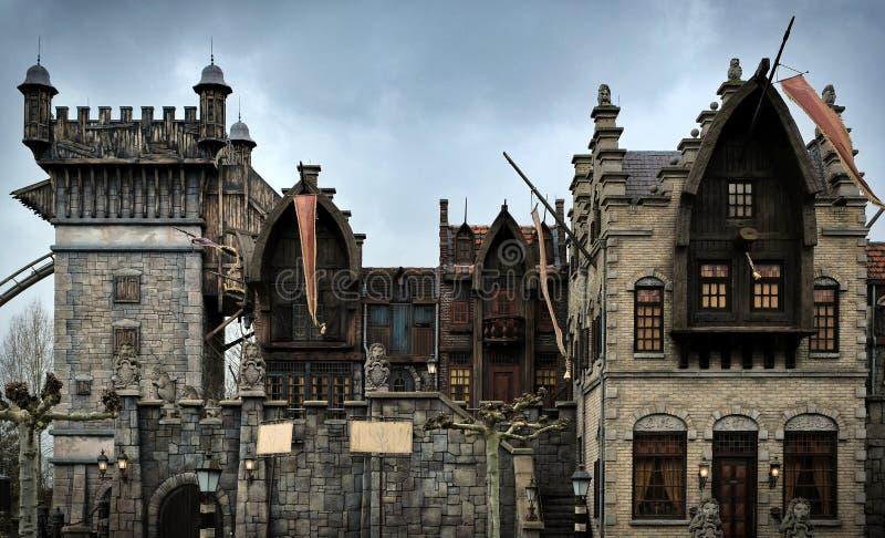 Castello di Fairytale a Theme Park Efteling Primavera nei paesi bassi fotografia stock
