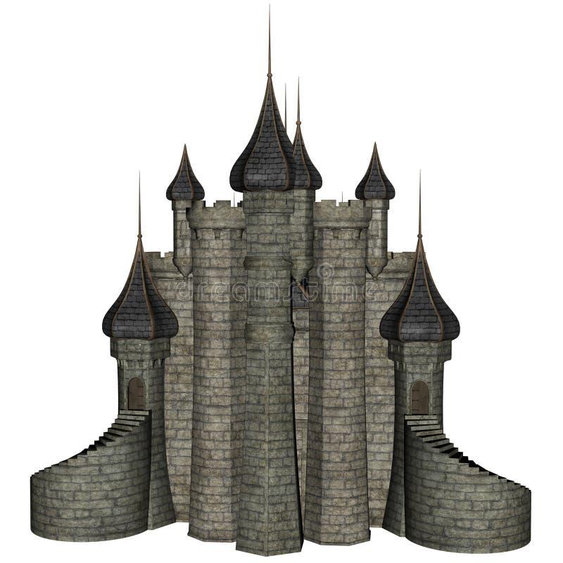 Castello di fantasia illustrazione di stock