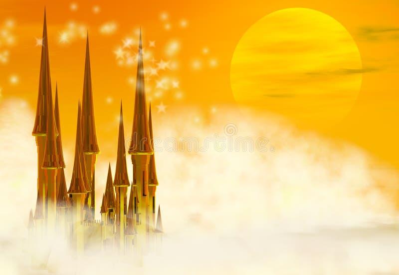 Castello di fantasia di fiaba illustrazione vettoriale