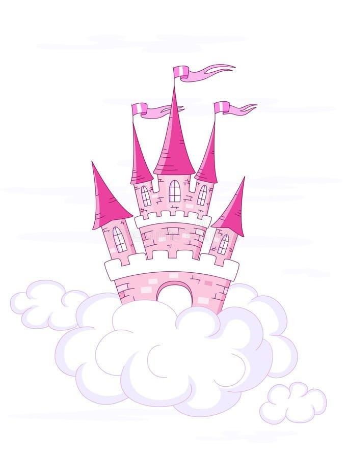 Castello di fantasia di vettore illustrazione vettoriale