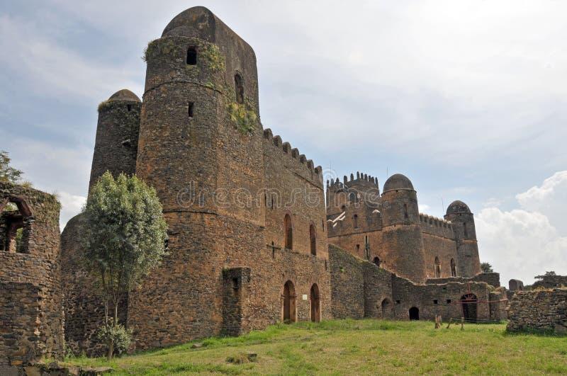 Castello di Fasil Ghebbi, Gondar, Etiopia immagini stock libere da diritti