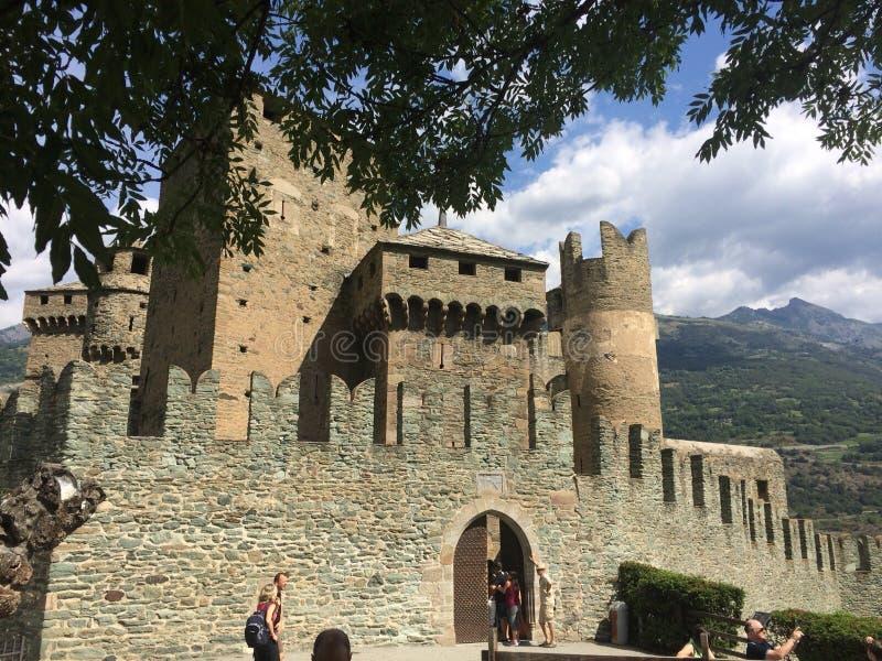 Castello di Fenis fotografía de archivo libre de regalías