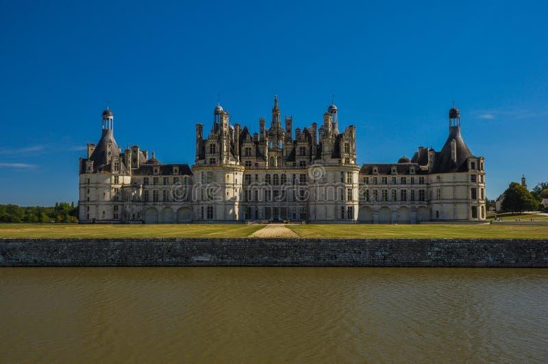 Castello di fiaba - Chateau De Chambord fotografia stock