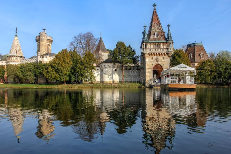 Castello di Franzensburg, Laxenburg, Austria fotografia stock
