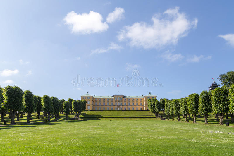 Castello di Frederiksberg in Frederiksberg, Danimarca fotografia stock libera da diritti