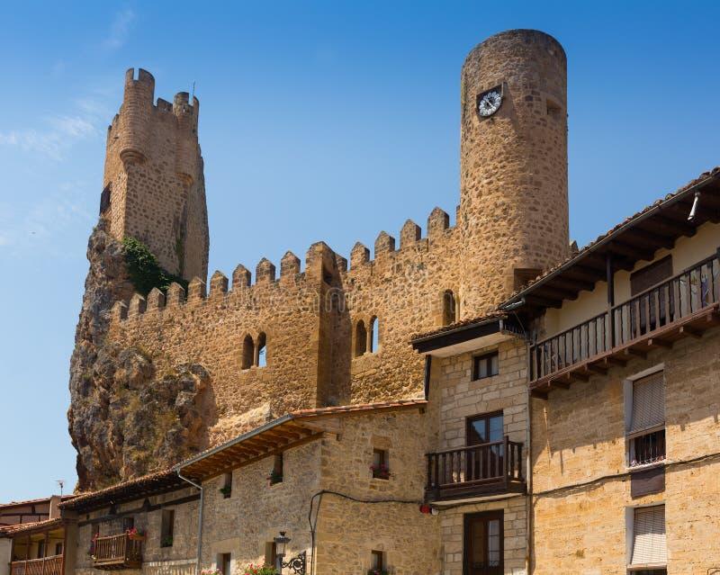 Castello di Frias (dodicesimo-quindicesimo secolo) Burgos, Spagna fotografia stock libera da diritti