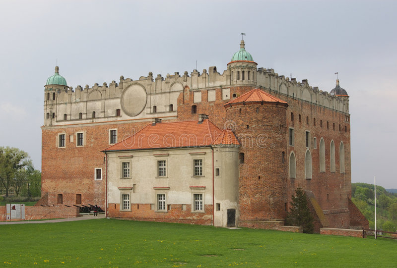 Castello di Golub-Dobrzyn fotografia stock libera da diritti