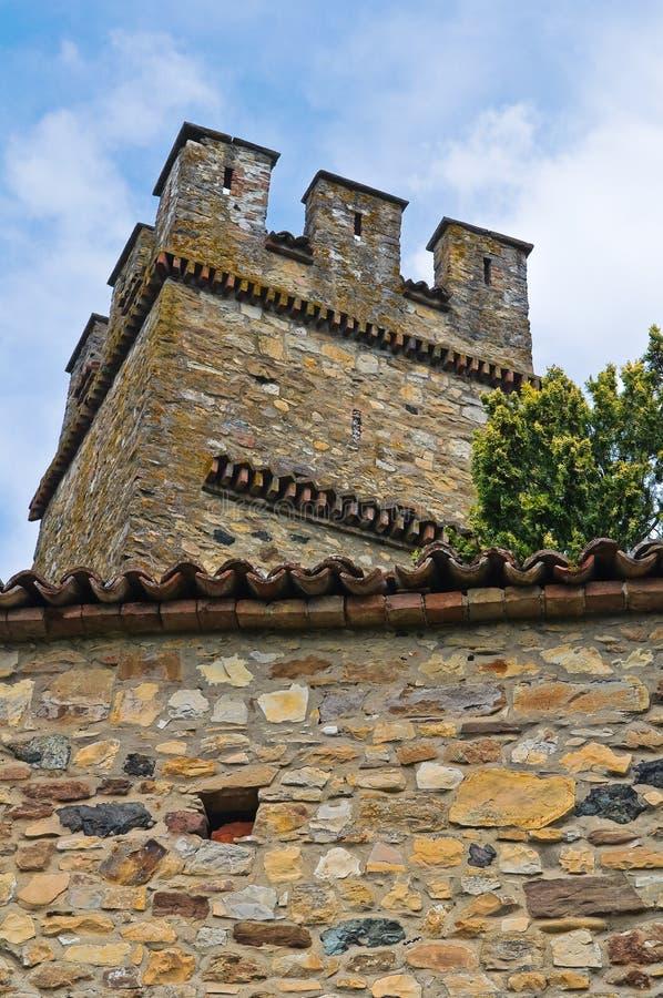 Castello di Gropparello. L'Emilia Romagna. L'Italia. immagine stock libera da diritti