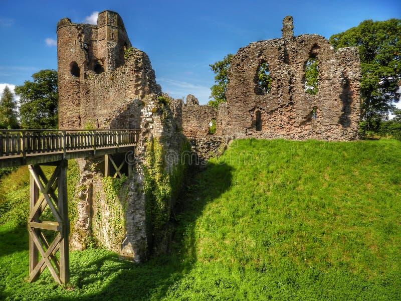 Castello di Grosmont, Monmouthshire wales fotografie stock