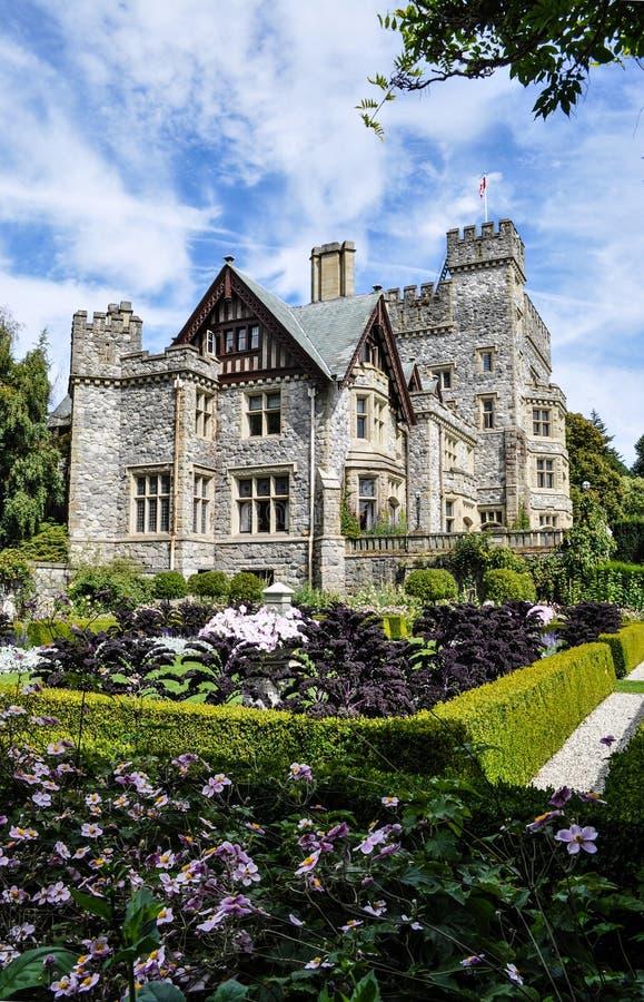 Castello di Hatley, Victoria, Canada fotografie stock libere da diritti