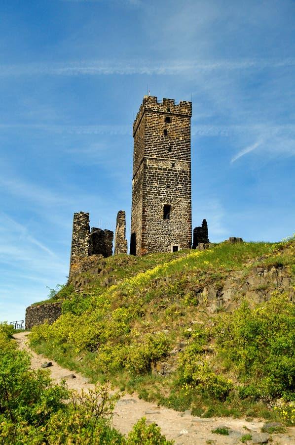 Castello di Hazmburk fotografia stock