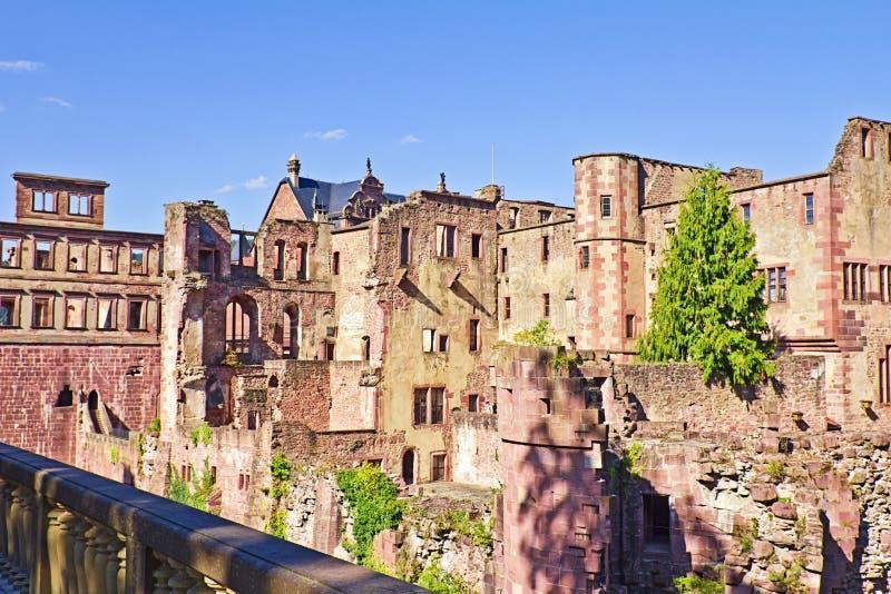 Castello di Heidelberg fotografie stock libere da diritti