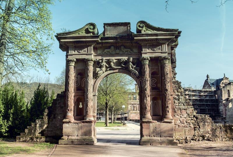 Castello di Heidelberg in Germania immagini stock