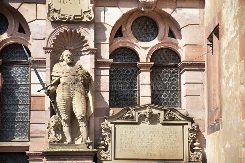 Castello di Heidelberg o Heidelberger Schloss a Heidelberg in Baden-Wurttemberg, Germania fotografie stock