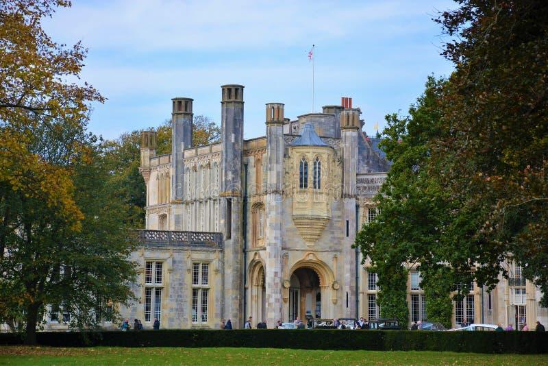 Castello di Highcliffe, Dorset, Inghilterra immagini stock libere da diritti