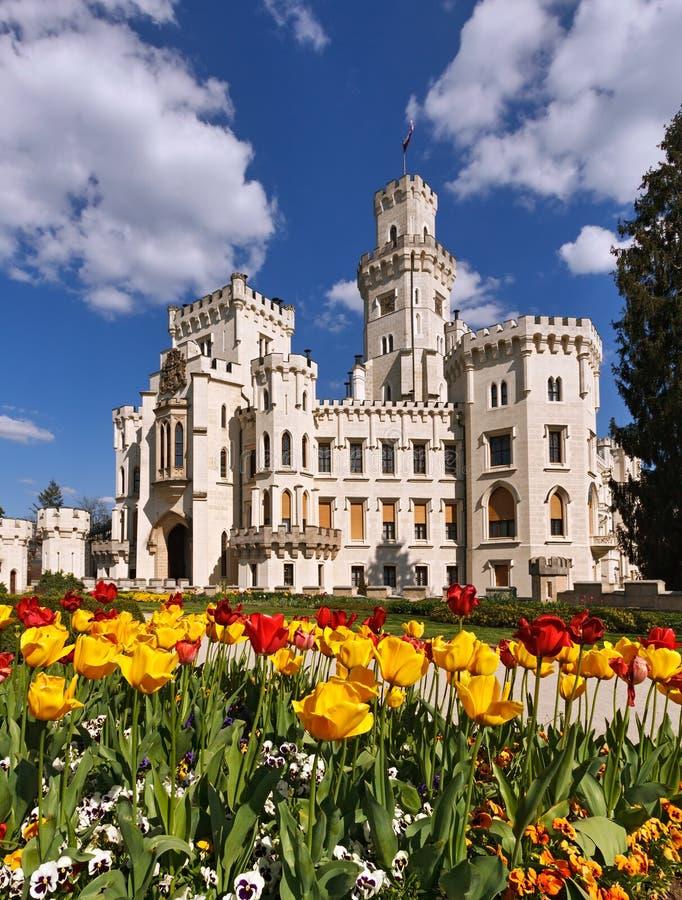Castello di Hluboka fotografie stock libere da diritti