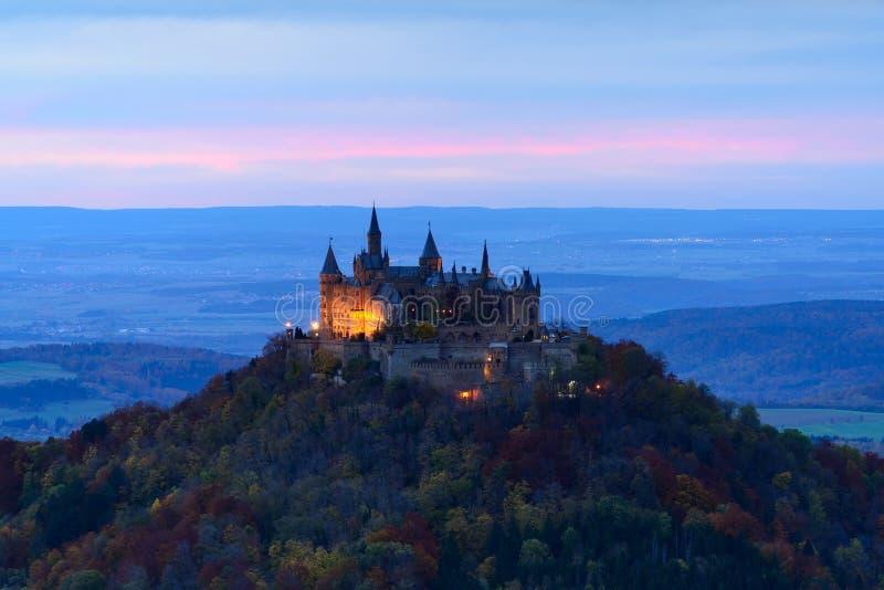 Castello di Hohenzollern, Germania immagini stock