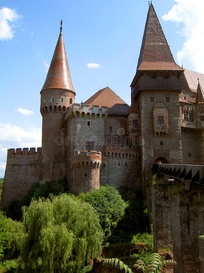 Castello di Hunedoara immagini stock
