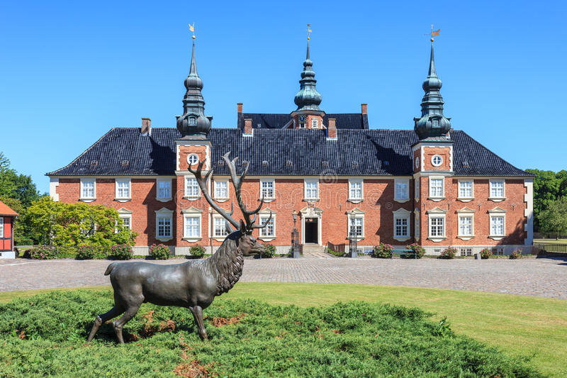 Castello di Jægerspris fotografia stock
