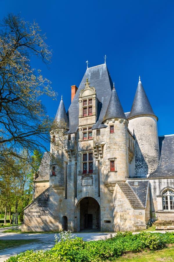 Castello di Javarzay in cuoco unico-Boutonne - Deux-Sevres, Francia immagine stock libera da diritti