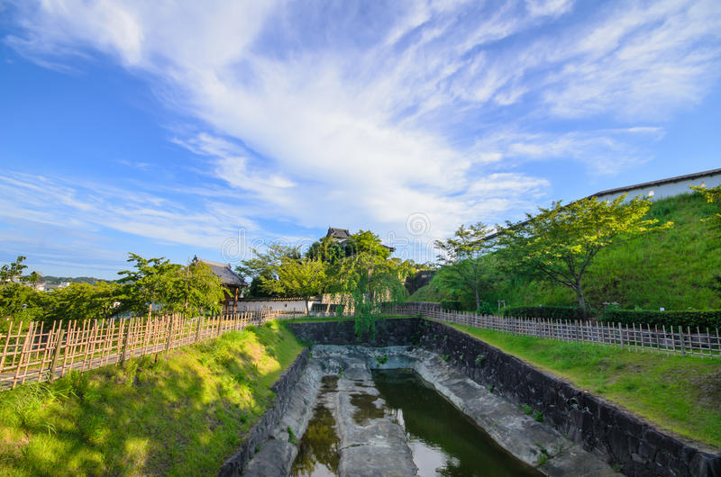 Castello di Kakegawa fotografia stock