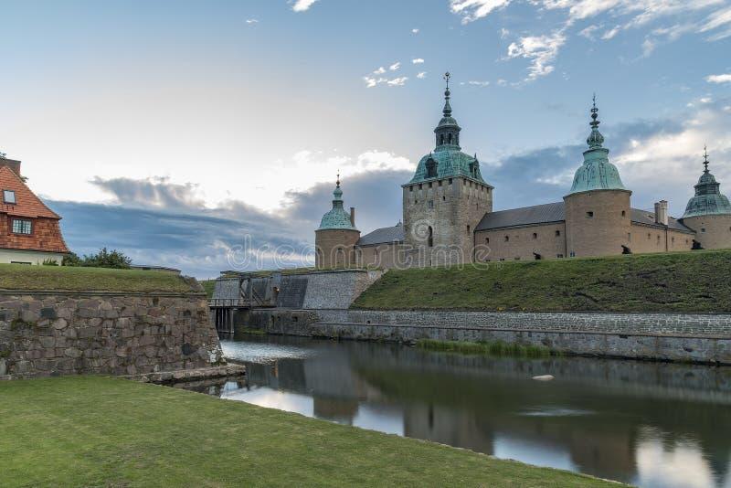 Castello di Kalmar in Svezia fotografia stock libera da diritti