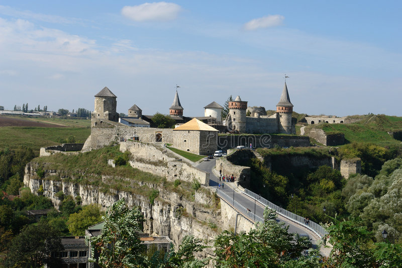 Castello di Kamenets-Podolsky immagini stock libere da diritti
