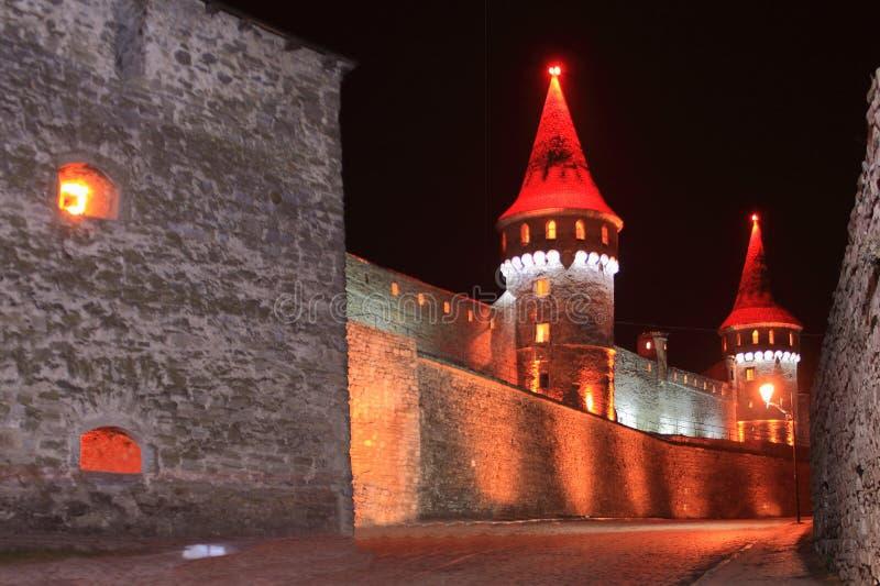 Castello di Kamianets-Podilskyi (Ucraina) fotografia stock libera da diritti