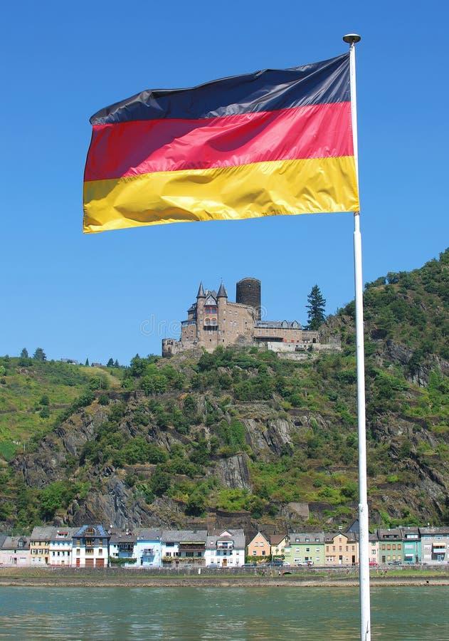 Castello di Katz, valle del Reno, Germania fotografia stock libera da diritti