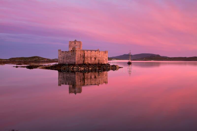 Castello di Kisimul, isola di Barra, Hebrides esterno, Scozia immagine stock libera da diritti