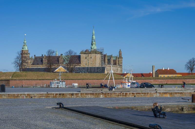 Castello di Kronborg, Danimarca fotografia stock libera da diritti