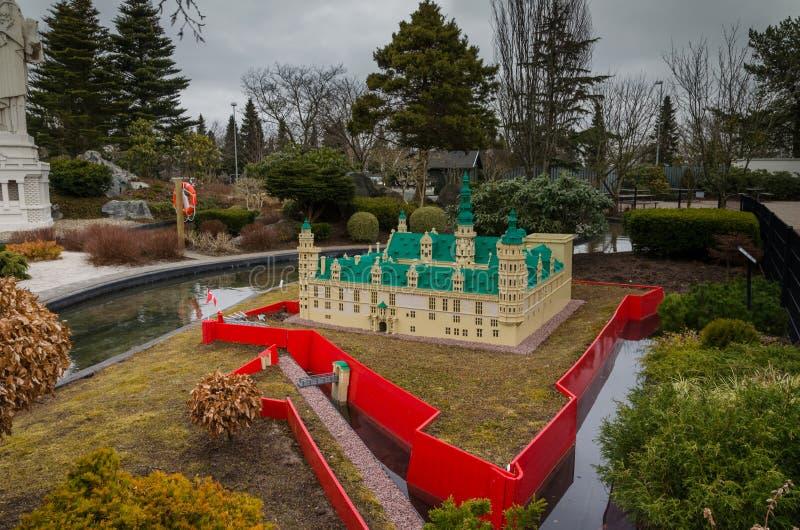 Castello di Kronborg fatto di Lego immagini stock libere da diritti