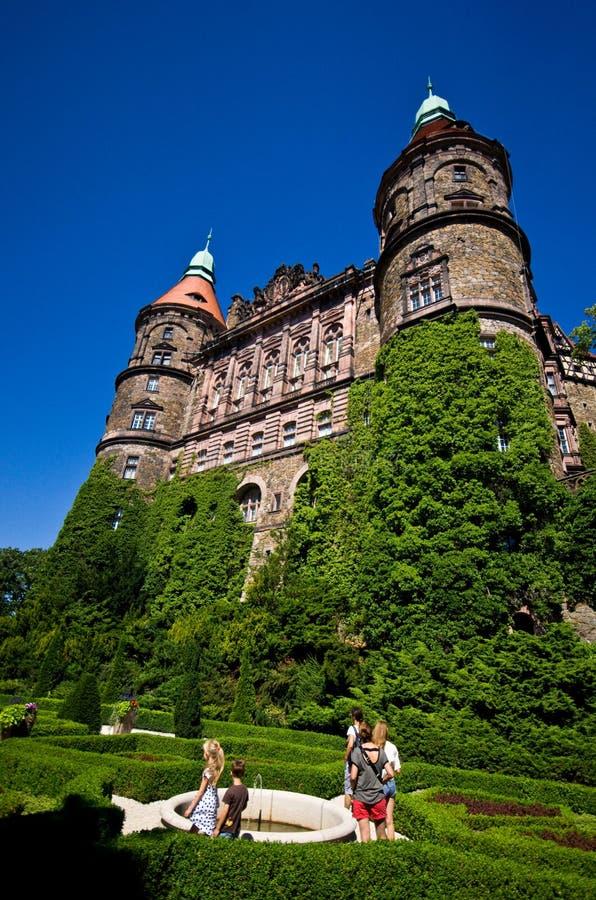Castello di Ksiaz in Polonia fotografia stock libera da diritti