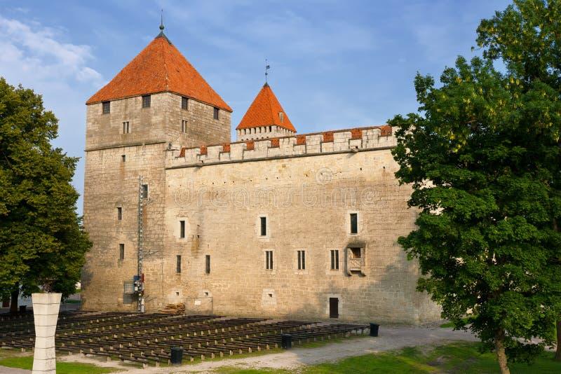 Castello di Kuressaare. Isola di Saaremaa. L'Estonia immagine stock