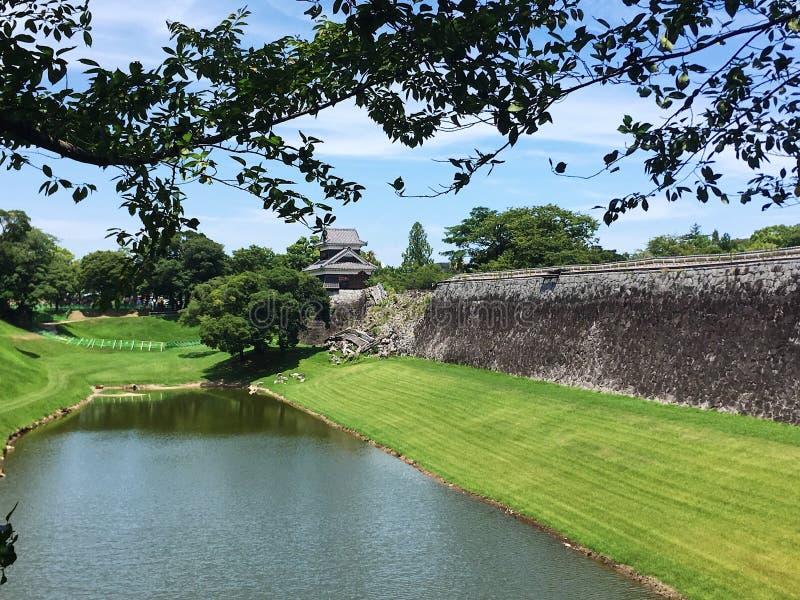 Castello di Kyushu Giappone Kumamoto fotografia stock libera da diritti
