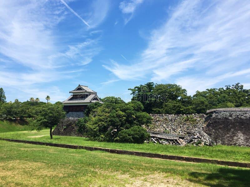 Castello di Kyushu Giappone Kumamoto immagini stock libere da diritti