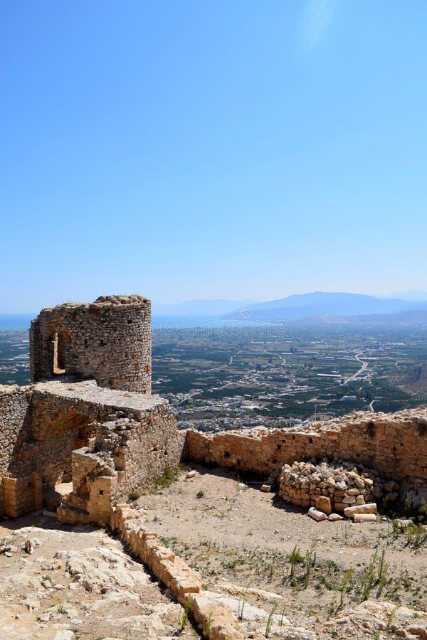Castello di Larissa immagini stock libere da diritti