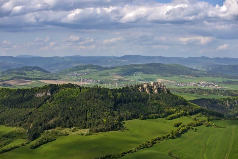 Castello di Lietava fotografia stock libera da diritti