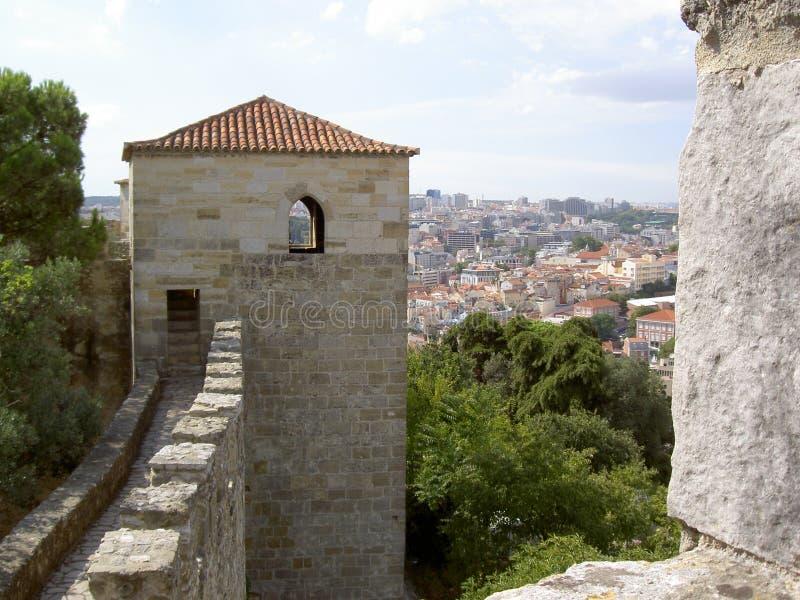 Castello di Lisbona fotografia stock libera da diritti