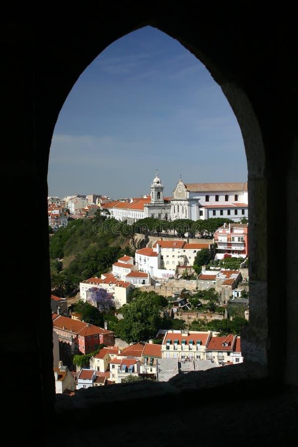 Castello di Lisbona fotografie stock