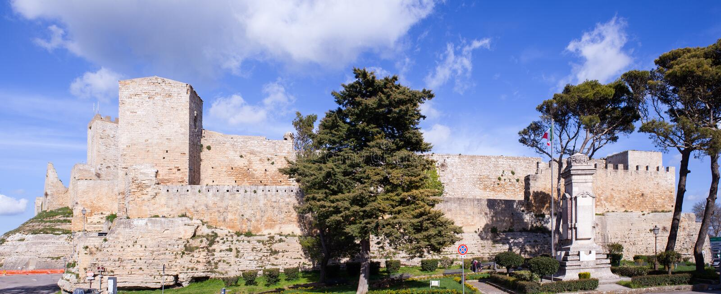 Castello Di Lombardia, Enna stock afbeelding
