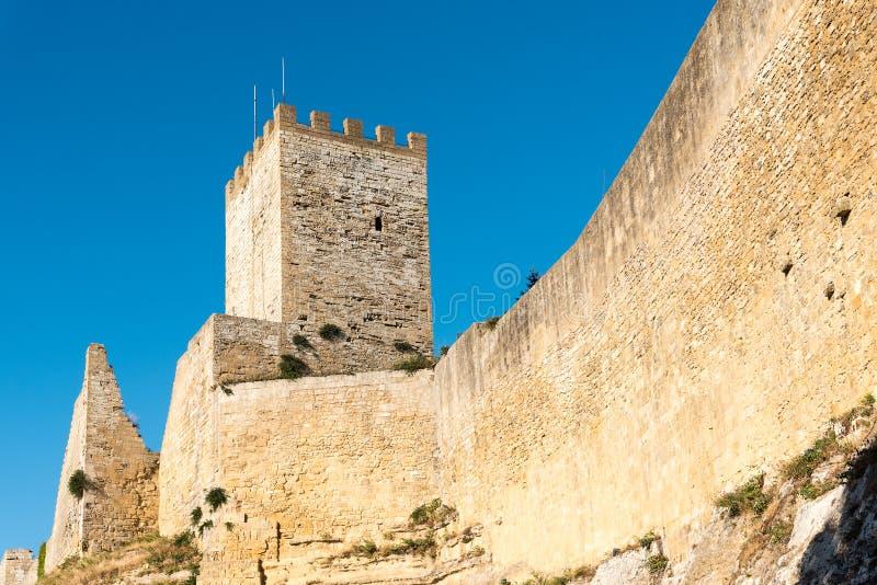 Castello Di Lombardia in Enna, Sicilië royalty-vrije stock fotografie
