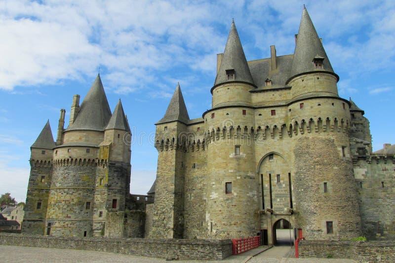 Castello di Medival in Vitre, Francia fotografie stock