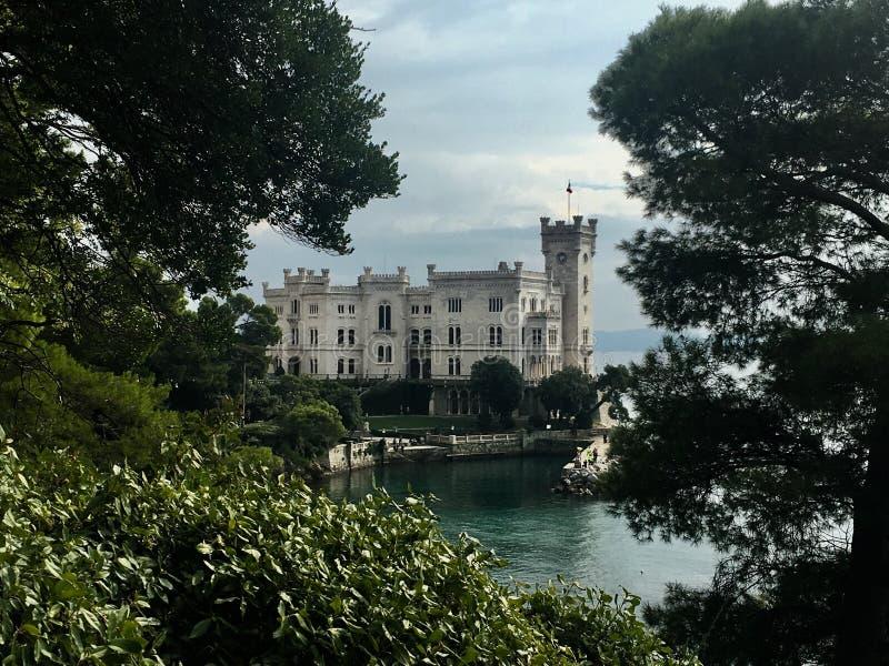 Castello di Miramare stock photography