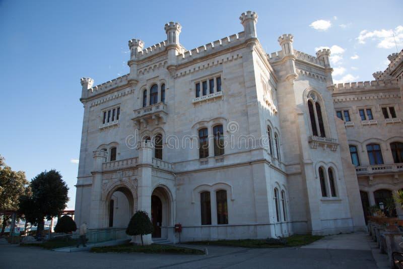 Castello di Miramare a Trieste immagine stock