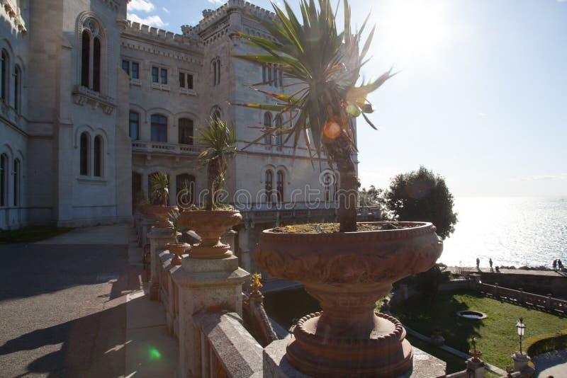 Castello di Miramare a Trieste fotografia stock libera da diritti
