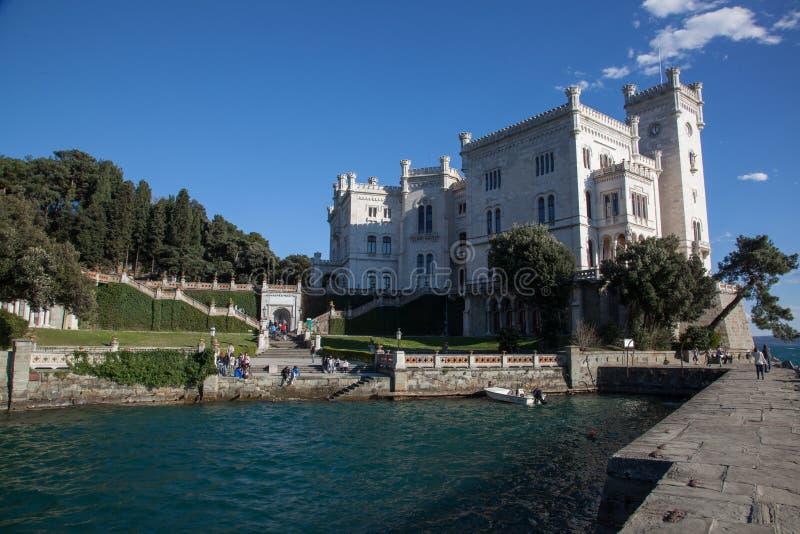 Castello di Miramare a Trieste immagine stock libera da diritti